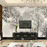 Fresque sur mesure 3d illustration wallpaper Nordic Elk Forest Abstract Pattern fond Aquarelle Peinture décorative-350cmX245cm...