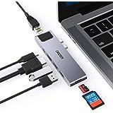 Hub USB C Macbook Pro, CHOETECH 7-IN-2 USB C Adattatore per MacBook Pro 2020-2016, MacBook Air 2020-2018 con Thunderbolt 3 5K