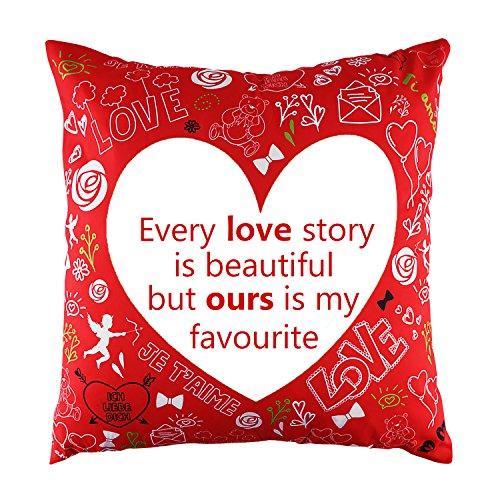 Cuscino e federa di san valentino - regalo romantico ideale per il tuo amato, con un bel messaggio e un design unico per abbellire la casa