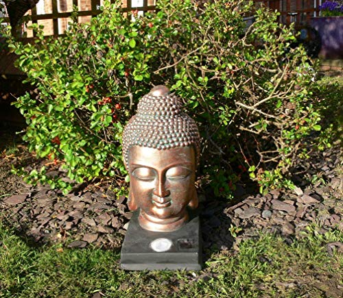 Kingfisher Lampe Solaire en Forme de tête de Bouddha