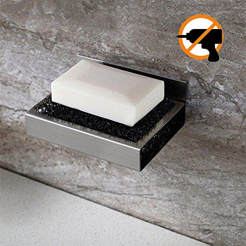 Ruicer Seifenschale Wandmontage aus Edelstahl Ohne Bohren Seifenablage Wand Badezimmer Küche Zum Kleben (Seifenschale Badezimmer)