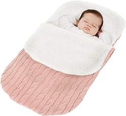 Fußsack Kinderwagen Baby Schlafsack Strickend Baumwolle Winter Buggy Babyschale Winterfußsack