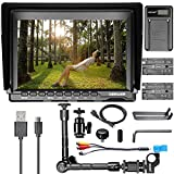 Neewer 7 inch NW759 HD Camera Monitor Kit:(1) 1280x800 IPS Screen Camera Field Monitor+(1)11.8 inches Magic Arm+(1)USB Battery Charger+(2)F550 Replacement Battery for Sony Canon Nikon