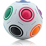 Coolzon Magic Ball Puzzle Cube Arcobaleno Cubo Fidget Giocattolo for Stress Reducer Bambini Adulti