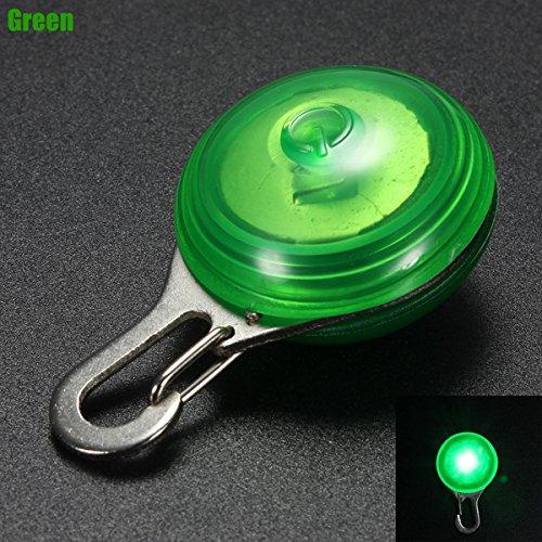 Tutoy Led Nachtlicht Circular Anhänger Dekor Clip-On Für Hund Hundehalsband -Green (Katze Im Flash Kostüm)