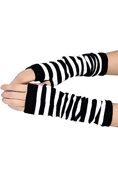 SODIAL(R) Guantes de invierno de moda con estilo caliente Negro ...