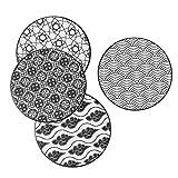 vancasso Haruka Set di Sottopentola 4 Pezzi in Ceramica e Sughero Protezione per Qualsiasi Tipo di Tavolo ø 20 cm