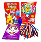 Balloon Animal University SUPERSIZED Kit with Qualatex 50 Count Traditional Assortment Balloons, Air Pump, Book, and Online Video Training Series. Learn to Make Balloon Animals Starter Kit!