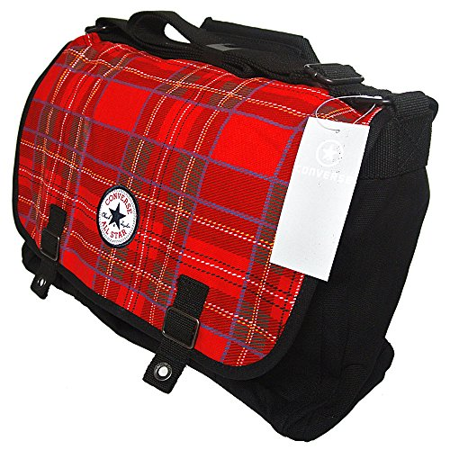 Converse Chucks Patch Paid Tartan Shopper Bag Rot Schwarz Tasche Gr. L CT Patch Paid Fortune Bag, Color: Red / Black, Code: 30 (Patch Tartan)