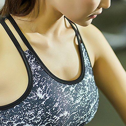 B & Y Yoga Burnout-Canottiera a compressione e impianti seno