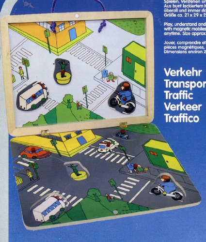 Preisvergleich Produktbild Holzpuzzle Legepuzzle mit Magnettafel Verkehr