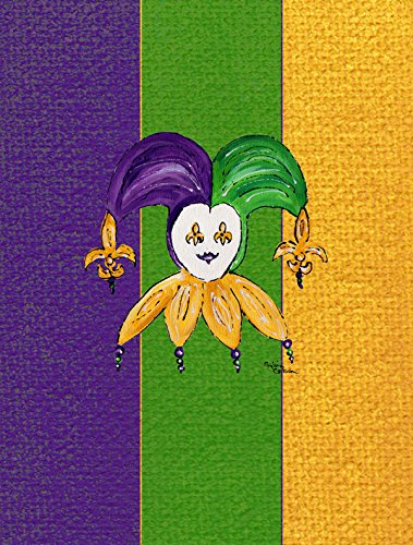 8367CHF Mardi Gras Flagge Leinwand Mardi Gras, Narr Small mehrfarbig ()