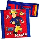 Unbekannt Geldbörse -  Feuerwehrmann Sam Jones  - inkl. Name - Portemonnaie & Geldbeutel - für Kinder - Geld - Portemonnaise - Geldtasche Geld - Feuerwehr / Rettung -..