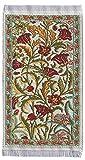 Miniatur Teppich, reines Polyester für Krippe, Puppenhaus, Blumenmuster. 5x9 cm