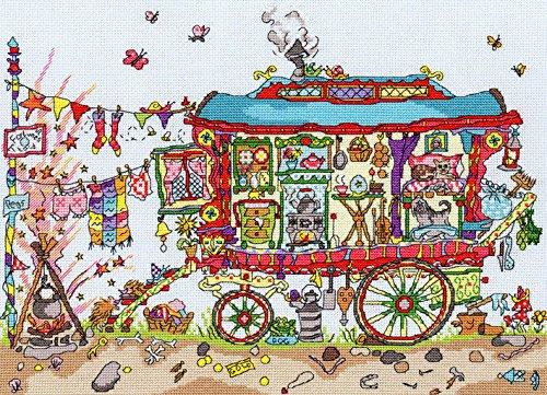 Bothy Threads Cut Thru' Gypsy Wagon Cross Stitch Kit by Bothy Threads Gypsy Thread