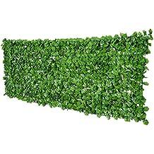 Outsunny Seto Artificial en Rollo 3x1m para Valla Balcón Barandilla Valla de Privacidad Planta Decorativa PE