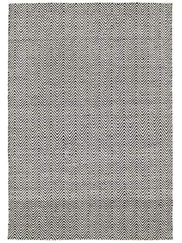 Benuta Teppich Matrix Ives Schwarz/Weiß 160x230 cm/Moderner Teppich für Wohn- und Schlafzimmer