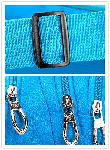 wewod Spalla Messenger bag/Sport marsupio/capacità a 3tasche Cintura Borsa per sport all' aperto, Gr¨¹n rosso
