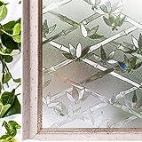 CottonColors 3D Fensterfolie, Sichtschutzfolie, Glasdekofolie, selbstklebend, keine Phthalate, umweltfreundlich, 3ft x 6,5 ft. (90 x 200 cm)