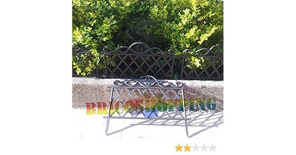 Steccato Estensibile Giardino : Steccato steccati per aiuole in abs grigio ghisa h amazon