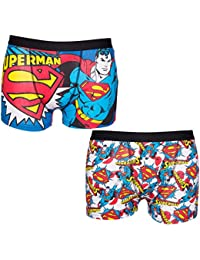 TruffleShuffle Mens DC Comics Superman 2 Pack Boxer Shorts