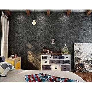 Yosot American Style Loft Industrieausführung Reine Farbe Tapete Grauzement  Wirkung Schlafzimmer Tapete Schwarz
