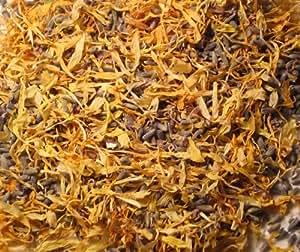 100grammes de lavande et de souci Fleurs séchées–Véritable Fleur pour fête/Pot-pourri