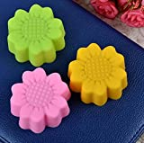 cupcinu® 5,1 cm Silikon Sun Flower Muffin Cookie Cup Kuchen Egg Tart Cup Backen Form Schokolade Pudding Jelly Seife Maker Form
