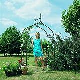 Gardman 2.95 x 1.4m Deluxe Gothic Garden Arch - Black