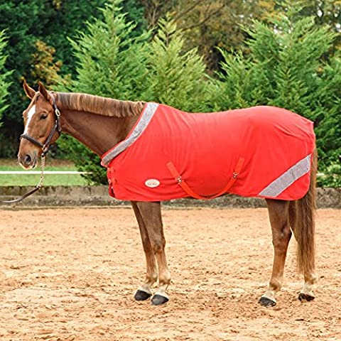 Meglio su cavallo WOW Sparkle–Tappeto Diamante equitazione Outdoor stabile in pile, Red, UK 6'9 / EU 155cm / 81