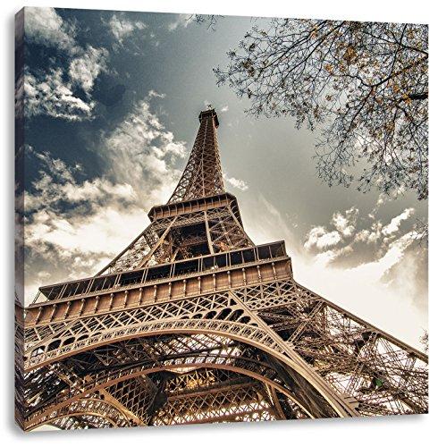 Eindrucksvoller Eifelturm Paris, Format: 70x70 auf Leinwand