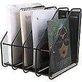 SIBY Metal 4 Section Desktop Organizer Magazine Case File Holder Folders Desk Shelf Organizer Dividers Cabinet Document Tray