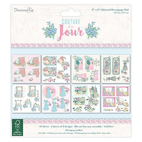 Dovecraft Couture Du Jour 8x8 FSC Decoupage Pad, Multicoloured by Dovecraft -