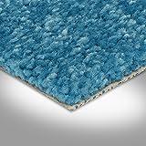 BODENMEISTER BM72182 Teppichboden Auslegware Meterware Hochflor Shaggy Langflor Velour türkis blau hell 400 cm und 500 cm breit, verschiedene Längen, Variante: 4,5 x 4 m