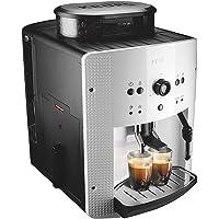 Krup Essential blanche Machine à café à grain, Machine à café, Broyeur grain, Cafetière expresso, 2 tasses, Nettoyage…
