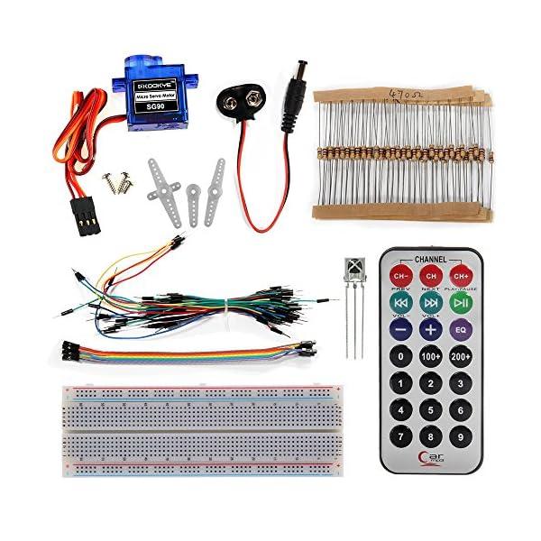 61HQLVuY46L. SS600  - KOOKYE Uno R3 ATmega328 completo kit de arranque para Arduino con 19 proyectos