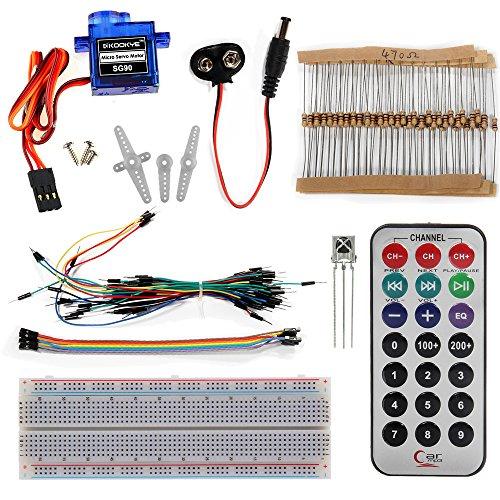 61HQLVuY46L - KOOKYE Uno R3 ATmega328 completo kit de arranque para Arduino con 19 proyectos