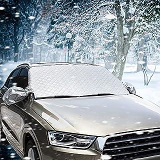 AUTOWN Frontscheibenabdeckung Auto/Scheibenabdeckung Auto, Schneeschutz Scheibenabdeckung für Winter + Sommer, 147x100 cm