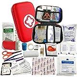 VOOA Kit di Pronto Soccorso - Cassetta Pronto Soccorso 44 Pezzi con coperta di emergenza, Bendaggio elastico e tamponi per Alcolici per casa, Auto, Campeggio, Campo, Ufficio, Escursionismo e Viaggio