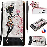 Felfy Coque Samsung Galaxy Note 3,Samsung Note 3 Wallet Case Flip Book Style Luxe PU Cuir Leather Case Slim Luxe Colorful Painting Design Motif Coque Fashion Étui et Puissant Magnétique Coque Case et Lanyard Housse Etui pour Samsung Galaxy Note 3 + 1 x Touch Stylus + 1 x Dust Plug