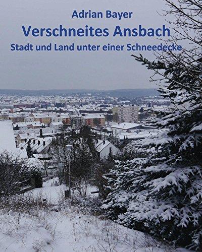 Verschneites Ansbach: Stadt und Land unter einer Schneedecke