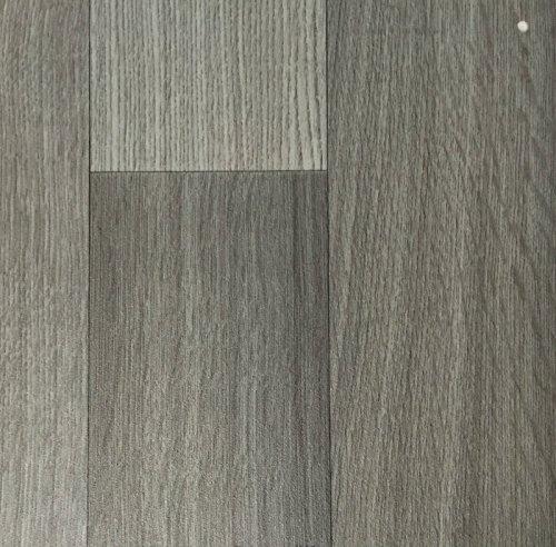 PVC Vinyl-Bodenbelag in der Optik grau anthrazit Holz Planke | PVC-Belag verfügbar in der Breite 3 m & in der Länge 5,0 m | CV-Boden wird in benötigter Größe als Meterware geliefert
