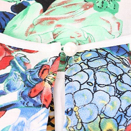 Natsume home service/Sans manches imprimée longue chemise de nuit/ Pyjama/ lingerie sexy A