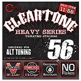 Cleartone CL9456 Jeu de Cordes pour Guitare Electrique Drop C Bleu