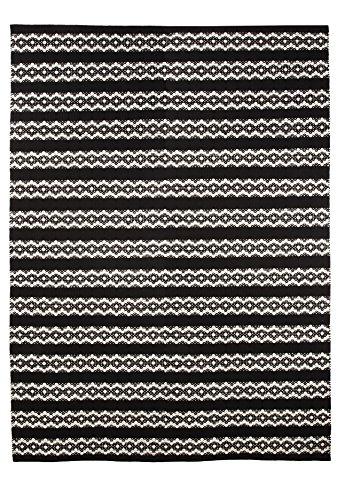 Vallila Interior CM000030-02 Leopardi - Alfombra de pasillo (140 x 200 cm), color negro y blanco