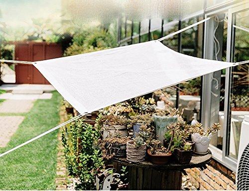 KOKR Voile D'ombrage - Filet D'ombrage Anti-UV Imperméable Perméable À L'air pour Jardin Patio Camping Et Randonnée,2M*5M