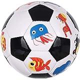 كرة قدم صغيرة بطبعة حيوانات للاطفال، مقاس 2 - متعددة الالوان