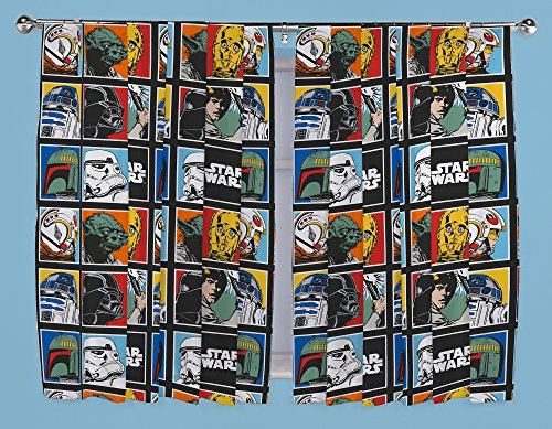 STAR WARS FORCE 66″ X 72″ PENCIL PLEAT READY MADE CURTAINS SET MATCHES DUVET