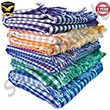 Ur little shop Handloom Towels XXXL (100% Pure Cotton Towels) (36/72 inches (or) 3/6 feet (or) 90/180 cms) (Pack of 5) (Multi Color)