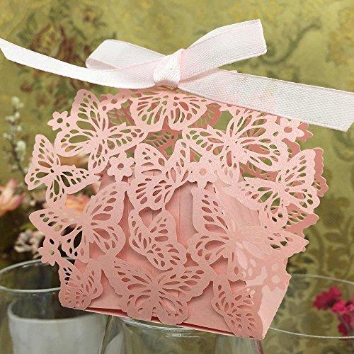 soxid (TM) 20pcs/set romantico matrimonio feste decorazione farfalla DIY Candy Cookie Scatole Regalo Festa Di (Cookie Regalo Farfalla)